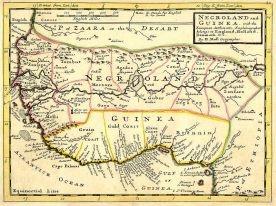 Mapa z 1792 r. przedstawiająca tzw. Wybrzeże Niewolnicze (Afryka Zachodnia). Był to główny teren wywozu niewolników pomiędzy XVI a XIX w. Obecnie wybrzeże obejmujące zachodnią Nigerię, Benin (dawniej Dahomej) i Togo.